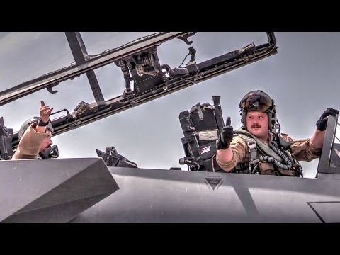 F-15 Fighter Jet Flight Operations – Pilots Prep And Takeoff For Mission