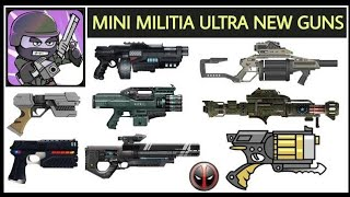 Download Mini Militia New Ultra Guns Mod Apk