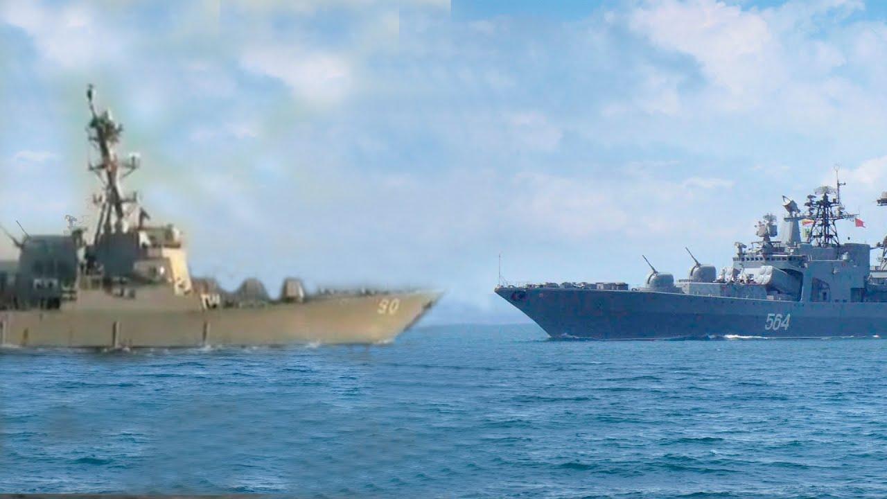 Адмирал Трибуц пресек нарушение границы эсминцем Chafee США