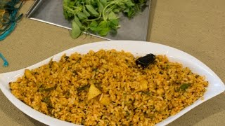 Methi leaves and Potato bath   Karnataka Kannada Recipes   using  vangibath powder
