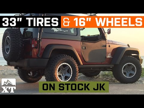 Stock JK Wrangler | 33x11.5R16 | 16x8 Wheels - W&T Fitment