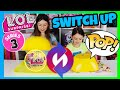 LUNCHBOX SWITCH UP CHALLENGE! LOL SURPRISE CONFETTI POP VS REAL FOOD THAT POPS! SERIES 3 Wave 1 & 2