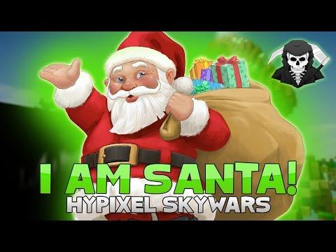 I AM SANTA + LOTS OF HACKERS! ( Hypixel Skywars UNCUT )