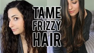 HOW TO TAME FRIZZY HAIR: Haircare Routine to Straighten Curly Hair | Ysis Lorenna
