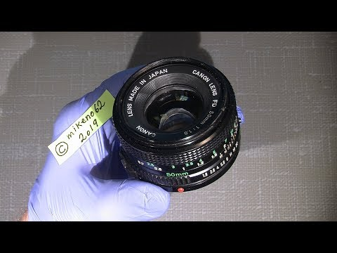 Working with the aperture blades in Canon FD 50mm 1:1.8  (new version)