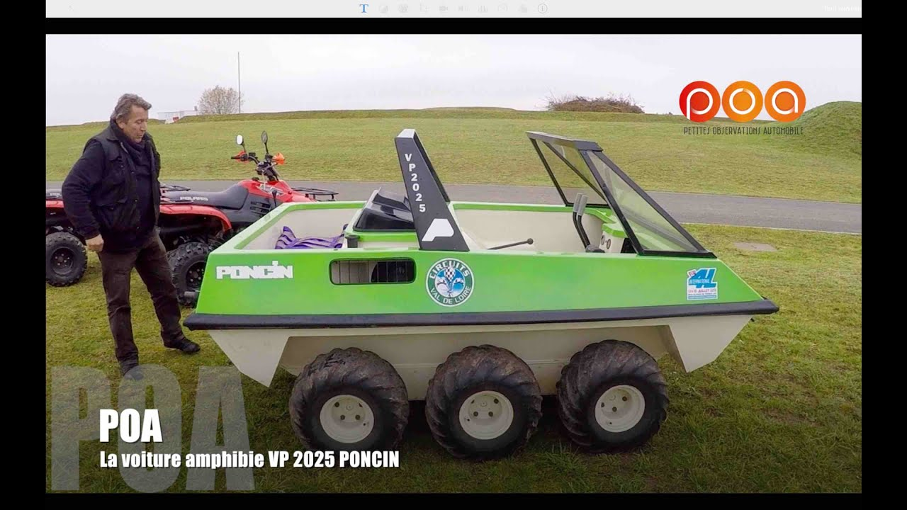voiture amphibie vp 2025 poncin poa prend l 39 eau youtube. Black Bedroom Furniture Sets. Home Design Ideas
