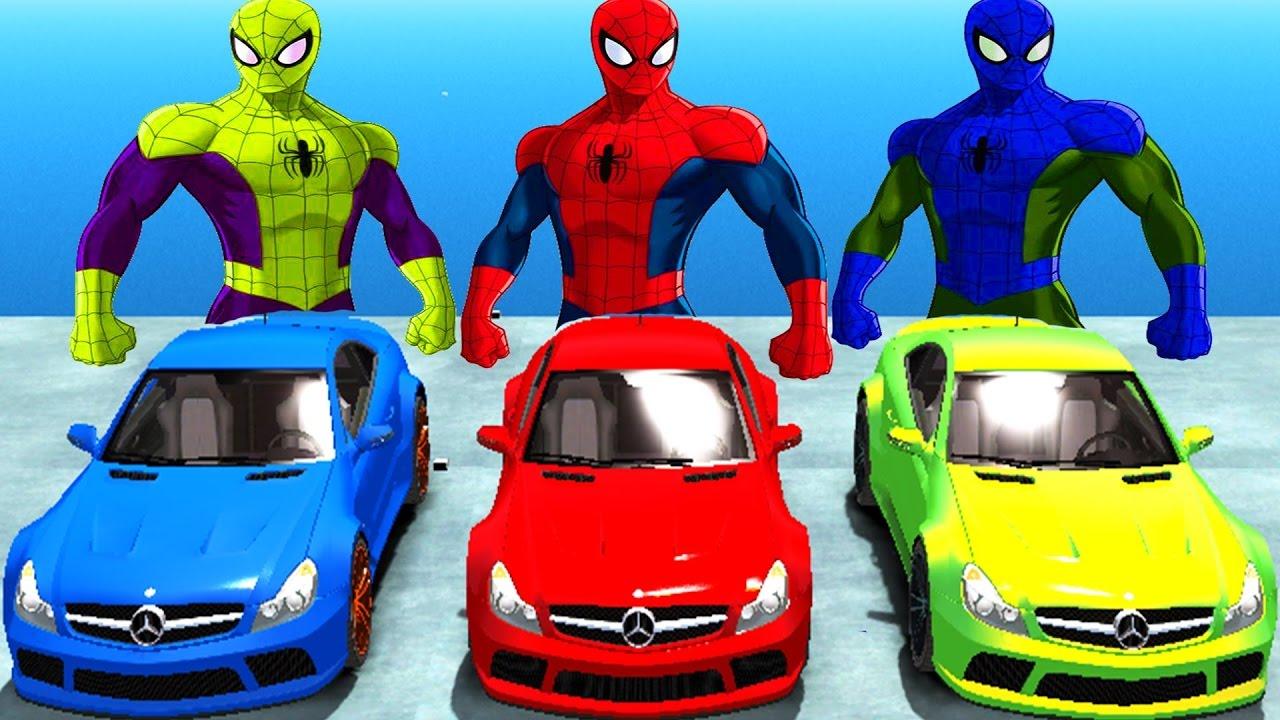 Download Colores Spaderman Y Colores Super Coches Mercedes Benz Canciones Para Niños Canciones