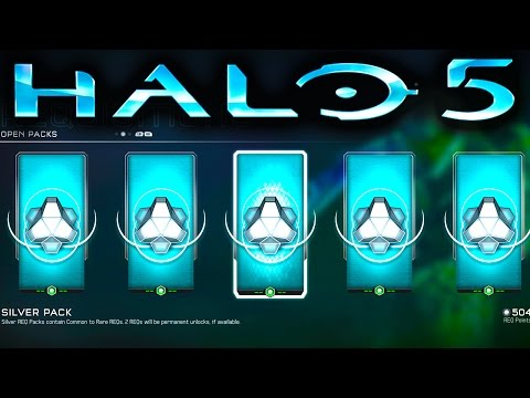 HALO 5 SILVER REQ PACK OPENING SPREE (Halo 5 Guardians)