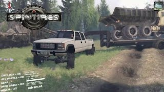 Spintires GMC hauling Big Dump Truck And other Trucks!