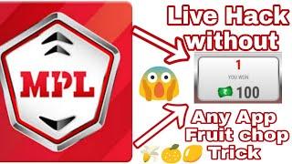 Gambar cover Mpl Fruit chop game hack 100% Real | Mpl Fruit chop apk | Mpl Latest fruit chop hack trick
