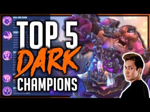 TOP 5: DARK CHAMPIONS | Dungeon Hunter Champions