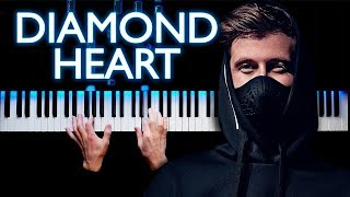 Alan Walker - Diamond Heart | Piano cover (feat. Sophia Somajo)