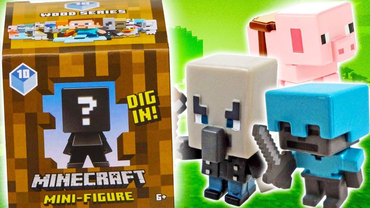 Opening 9 Minecraft Wood Series MINI FIGURES!