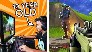 My Little Brother is a FORTNITE *PRO*! (How Good is He?)