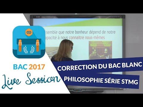 Bac Blanc Séries Techno : Correction En Live De L'épreuve De Philosophie