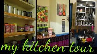 My small Indian kitchen organization    My kitchen tour