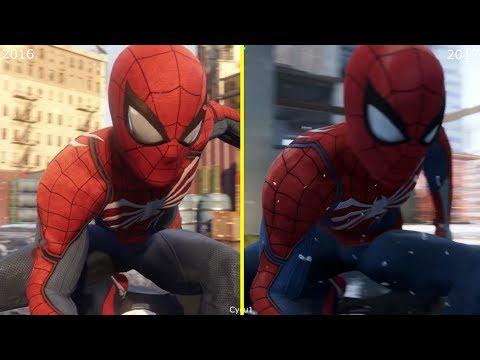 Spider-Man PS4 E3 2016 vs E3 2017 Scenes and Graphics Comparison