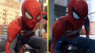 Spider-Man PS4 E3 2016 vs E3 2017 Scenes and Graphics Comparison