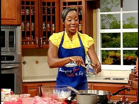 Sherone Simpson's Golden Pork Chops With Roasted Sweet Potatoes - Grace Foods Creative Cooking