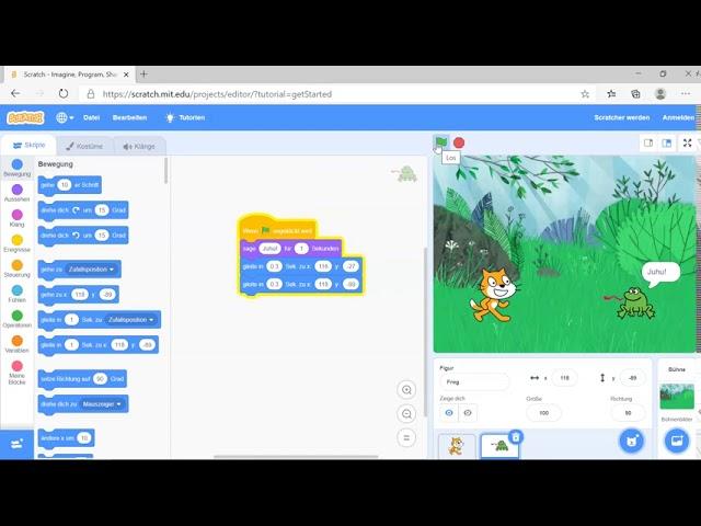 Scratch - Warte Befehl programmieren