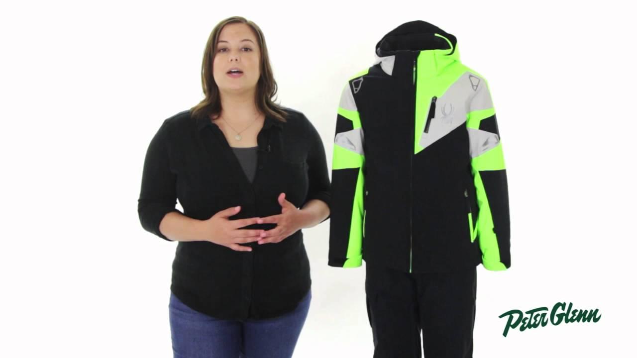 4189b8a51 2017 Spyder Boys' Leader Ski Jacket Review by Peter Glenn - YouTube