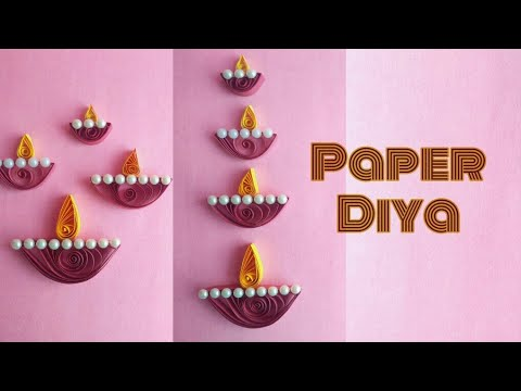 DIY Paper Diya Making • Diwali Craft • Diwali Decoration Idea • Paper Craft • Easy Diya Decoration