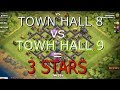 Clash of Clans - Gowipe th8 vs th9 (3 stars)