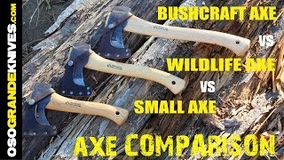 Wetterlings Small Axe vs Wildlife Axe vs Bushcraft Axe | OsoGrandeKnives