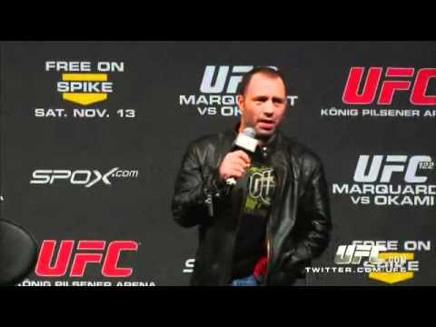 Clint August - Joe Rogan get called a Bitch at UFC 122