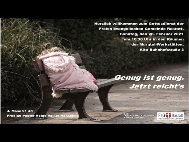 Gottesdienst der FeG Rastatt am 28. Februar 2021