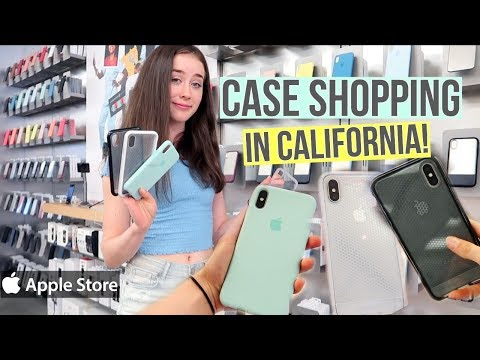 Shopping For New Phone Case - Apple Store in California