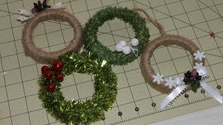 Mason Jar Ring Wreath Ornament Tutorial