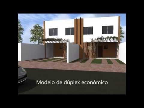 Casa econ mica tipo duplex de 3 dormitorios youtube for Casa minimalista 2 dormitorios