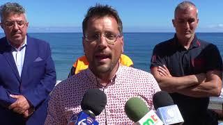 Izado de la Bandera Azul en la playa de El Socorro - Los Realejos