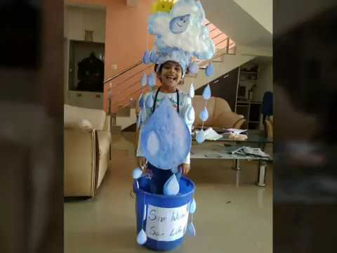 How to make Save water save life | fancy dress theme for kids