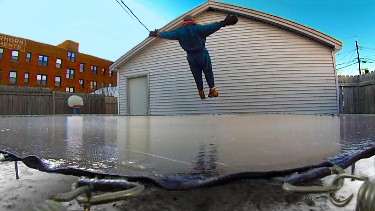 Minnesota Cold (Part 13 - TAKE 1) Frozen Trampoline