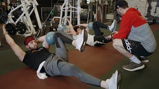 Baker Mayfield and Christian Yelich...workout buddies