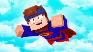 Ich werde zum Superhelden in Minecraft Troll Wars