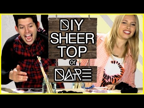 DIY Crop Top with Tights?!  DIDare w Gracie Dzienny & Hunter March