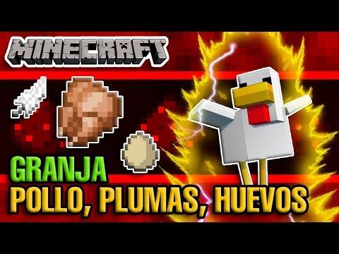 Granja De Gallinas, Pollo Cocinado, Plumas Y Huevos // Minecraft 1.14.3+