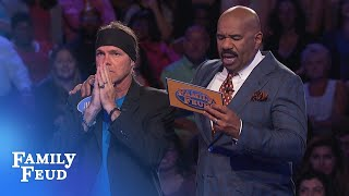 YES! The Holcombs lock up a HUGE WIN! | Family Feud