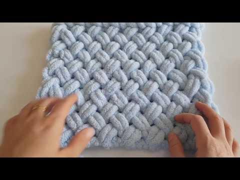 Alize Puffy Ile Kolay Bebek Battaniyesi Yapımı