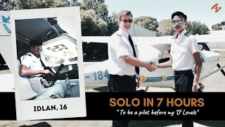 SINGAPORE 16 YEAR OLD PILOT : Achieved his SOLO FLIGHT in 7 hours!