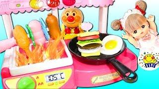 メルちゃん おもちゃのキッチンでお料理ごっこ❤︎バーベキューも⁉︎プリキュアアラモード キュアパルフェ来店❤︎レジお店屋さん❤︎たまごMammy Doll kitchen and food toys