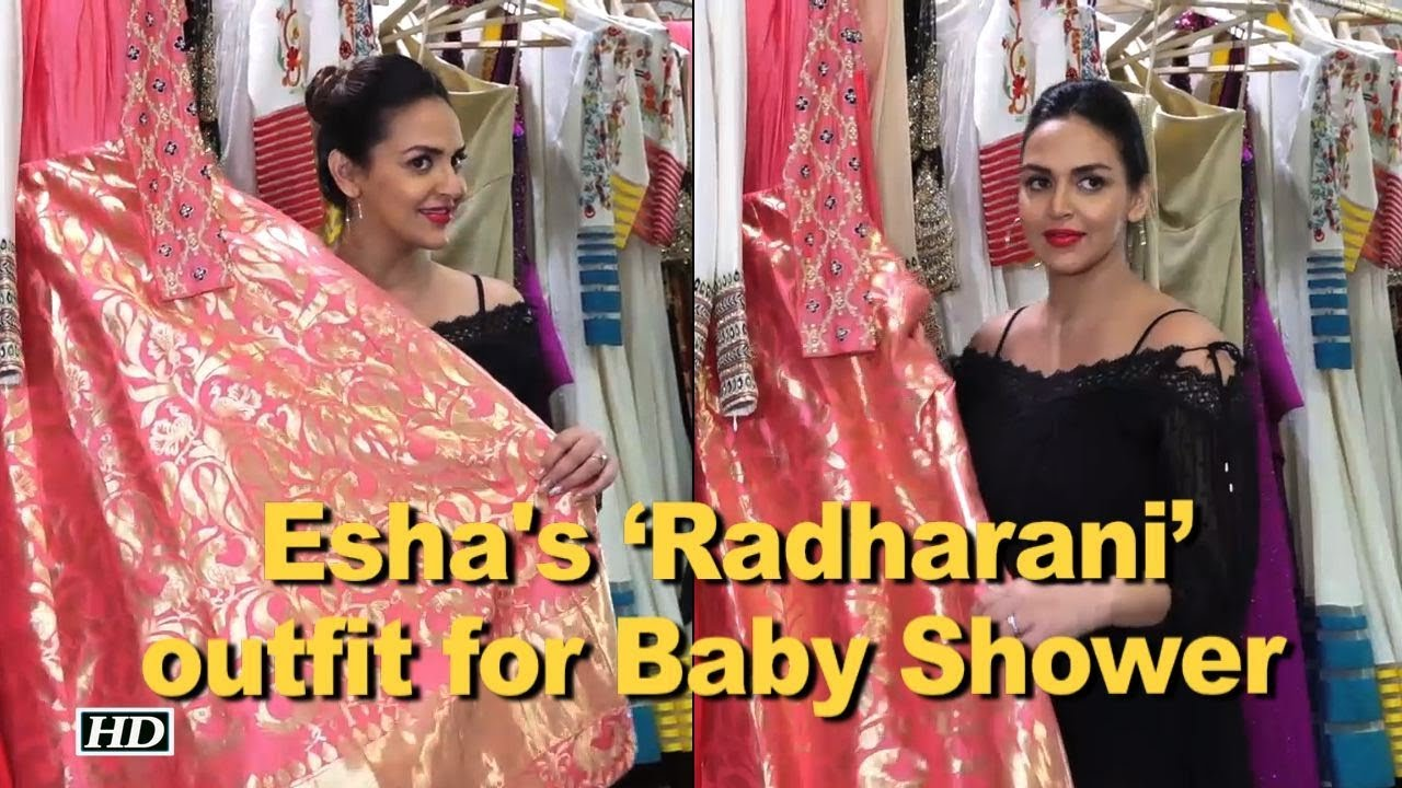 Mom To Be Esha Gets Radharani Outfit For Baby Shower Youtube