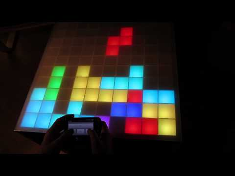 100Pixel RGB-LED Table - Interactiv (Touch-Sensor)