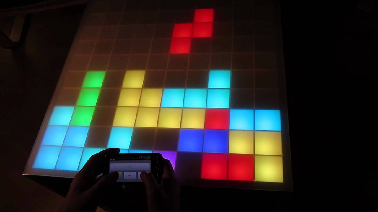 100pixel Rgb Led Table Interactiv Touch Sensor Youtube