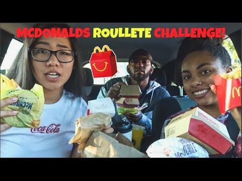 MCDONALDS ROULETTE CHALLENGE!!!!