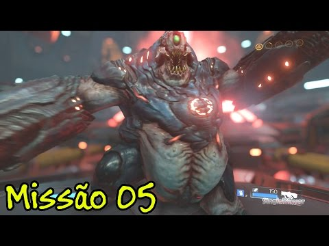 DooM 4 (2016) - Missão 5 - Torre de Energia Argent - PS4 / Xbox One - Bethesda - Gameplay PT-BR