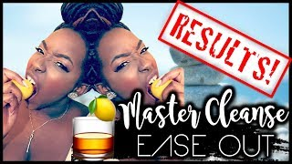 Master Cleanse Final Results | 10 Day Weight Loss | Easing Out
